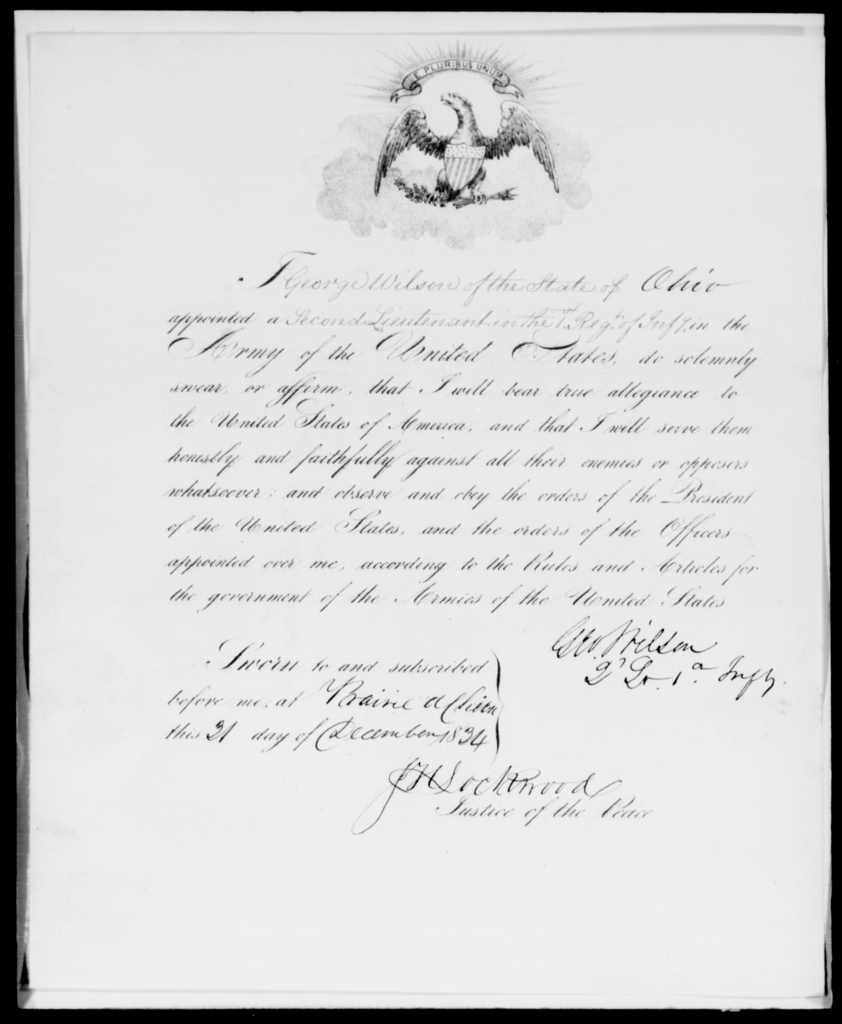 Wilson, George - State: Ohio - Year: 1835 - File Number: W66
