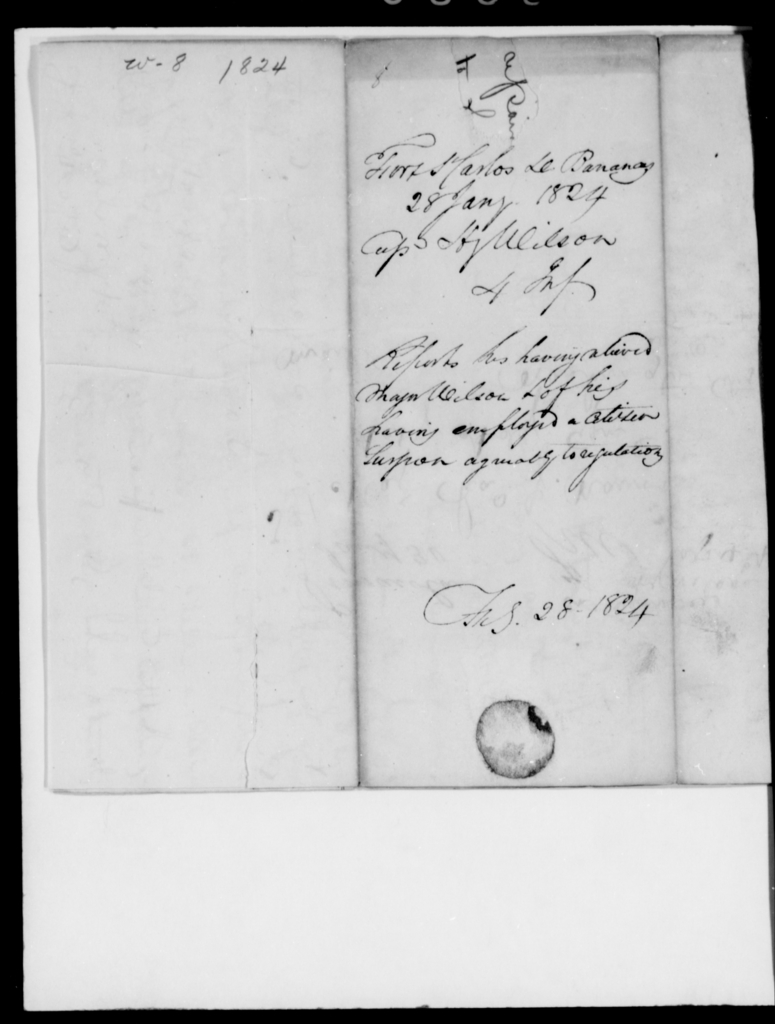 Wilson, H - State: Arkansas - Year: 1824 - File Number: W8