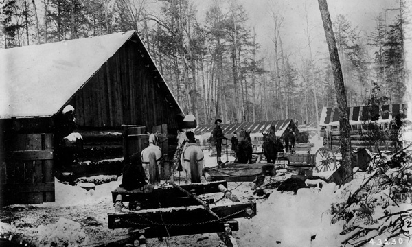 Photograph of Sleighs with 12 Foot Bunks