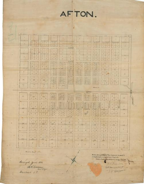 Survey of the Town of Afton in the Cherokee Nation, Indian Territory