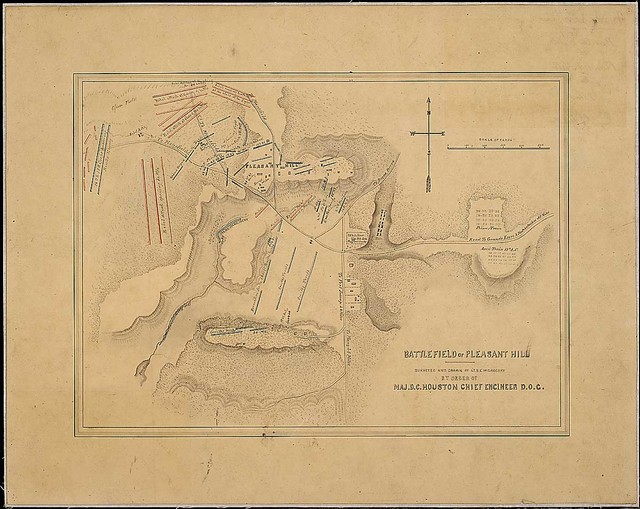 Battlefield of Pleasant Hill. Surveyed and Drawn by Lt. S. E. McGregory By Order of Maj. D. C. Houston, Chief Engineers, D.O.G. [Department of the Gulf].