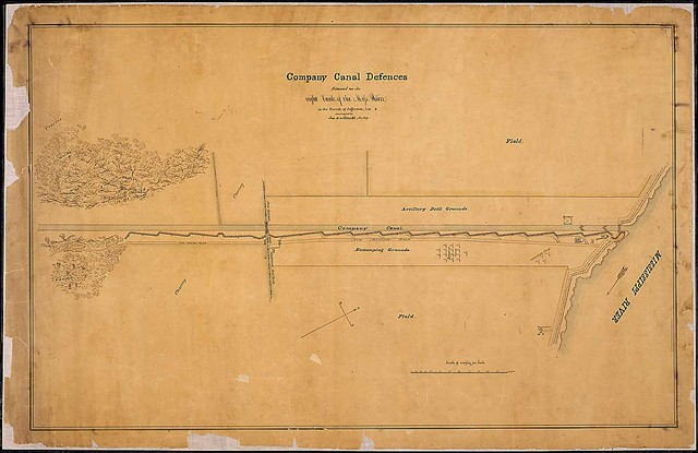 Company Canal Defences Situated on the right bank of the Miss. River in the Parish of Jefferson, La., [near New Orleans] surveyed by Jos. Gorlinski, Civ. Eng.