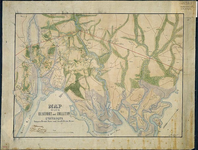Map of a part of Beaufort and Colleton Districts between Broad River and South Edisto River