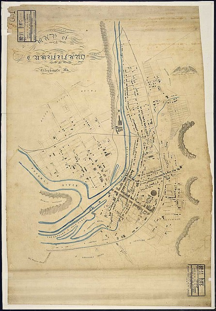 Map of Cumberland, Alleghany Co., Md