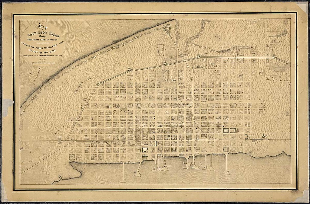 Map of Galveston, Texas, Showing the Rebel Line of Works ... Blank Map Of Galveston on blank map of fredericksburg, blank map of dallas, blank map of atlanta, blank map of texas, blank map of charleston, blank map of cozumel, blank map of jacksonville, blank map of virginia beach, blank map of new orleans,