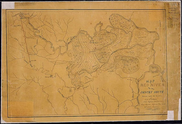 Map of Red River and the Country South [and east of Alexandria]. Surveyed under the direction of Capt. E. Gottheil, Chief Engineer, Dist. Wesn. La., Head Quarters, Engineer Department, Dist. Western Louisiana.