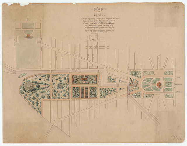 Robert Mills' Plan for the National Mall