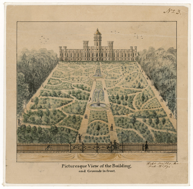 Robert Mills' Plan for the Smithsonian, Building and Grounds