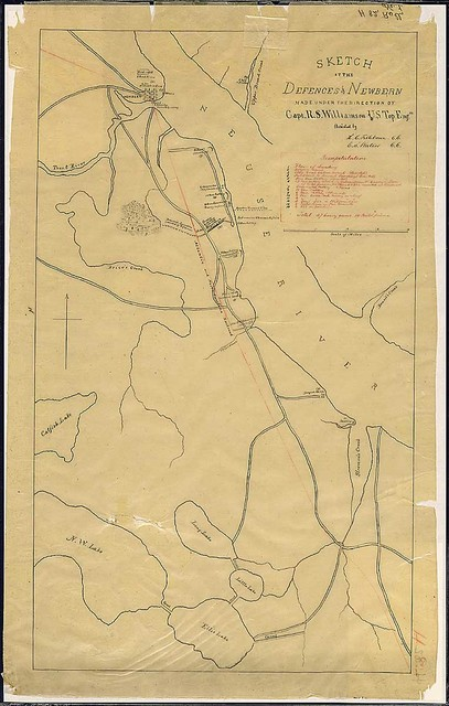 Sketch of the Defences of Newbern [sic] Made Under the Direction of Capt. R. S. Williamson, U. S. Top. Engrs. Assisted by H. C. Fillebrown, C. E., [and] E. S. Waters, C. E.