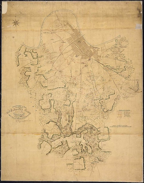 Topographical Map of the Battle Field of Nashville, Tenn., 15th & 16th Dec. 1864. Prepared under the direction of Col. Wm. E. Merrill, 1st U.S.V.V. Engineers, Chief Engineer, Dept. of the Cumberland, By Major James R. Willett, 1st U.S.V.V. Engineers, Chief Inspector R. R. Defences, Dept. of the Cumberland. Surveyed by Chs. Peseux & John H. Willett, 1864-[186]5. Drawn by Chs. Peseux.