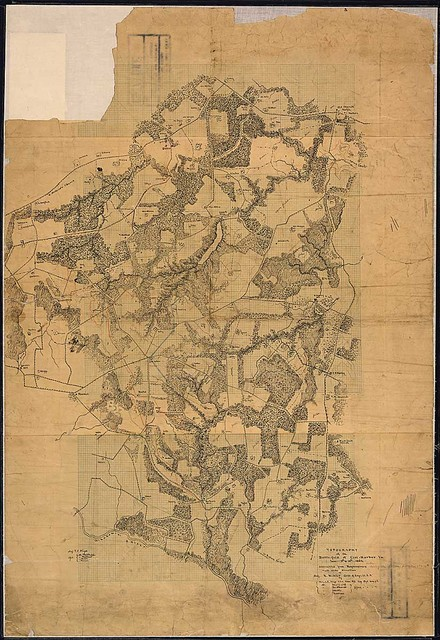 Topography of the Battlefield of Cool-Harbor, [sic] Va....constructed form Recgnocainces made under Direction of Maj. N. Michler, Corps of Engr., U. S. A., by Maj. J. E. Weyss, U. S. V., Princ. Assistant, Engr. Dept., Army of P[otomac].