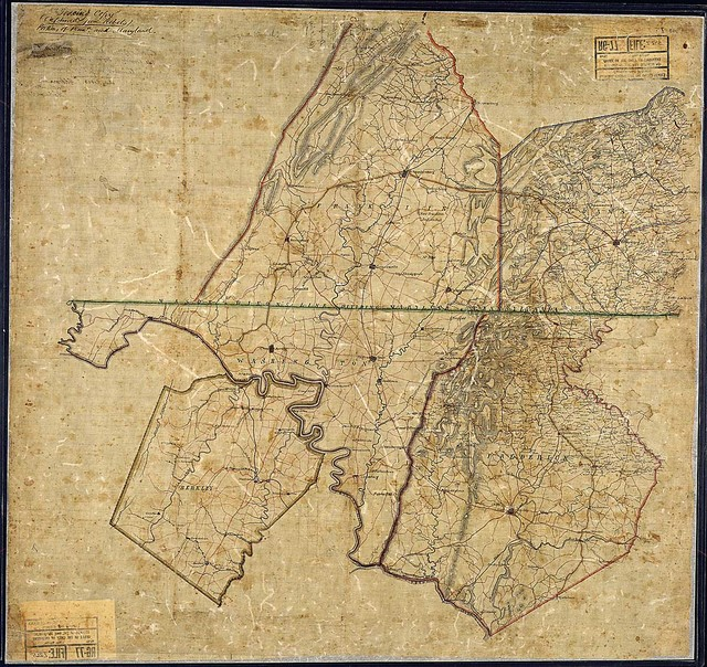 Tracing Copy (Captured form Rebels). Portions of Penna. and Maryland [and West Virginia].