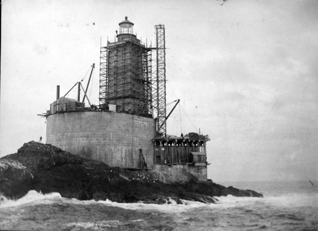 Photograph of the Construction of the St. George Reef Light Station in California
