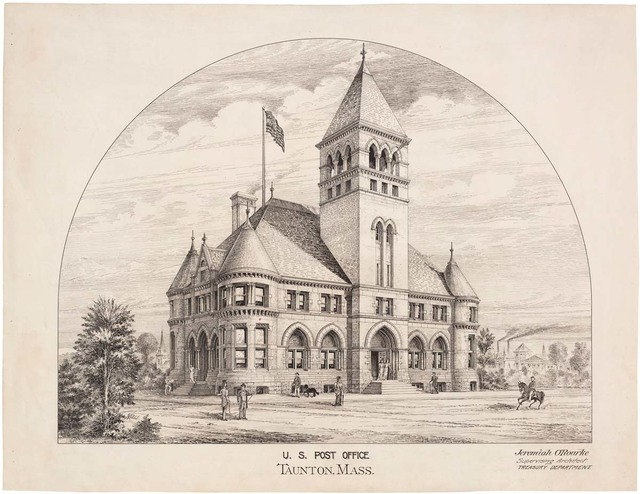 Plan for the U.S. Post Office in Taunton, Massachusetts