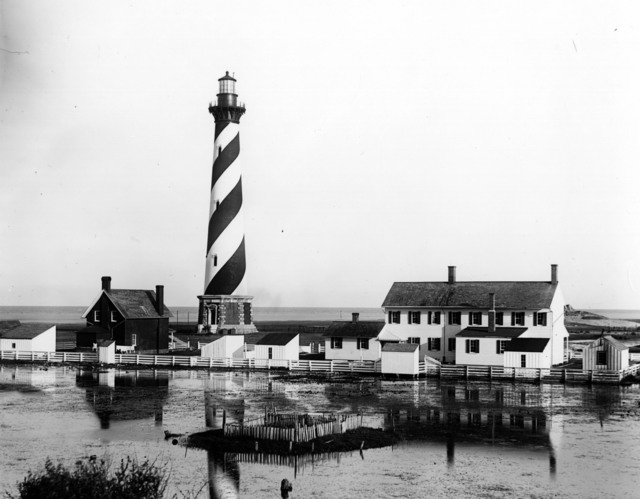 Photograph of Cape Hatteras Lighthouse in North Carolina