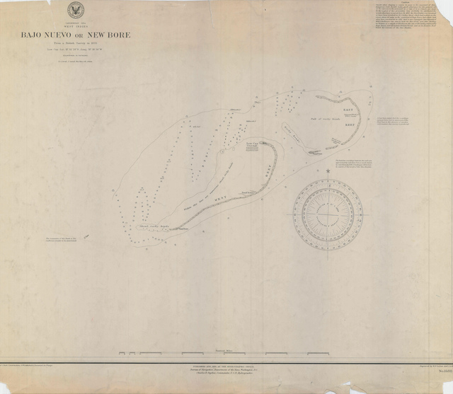 Nautical Chart of Bajo Nuevo (New Bore) in the Caribbean Sea