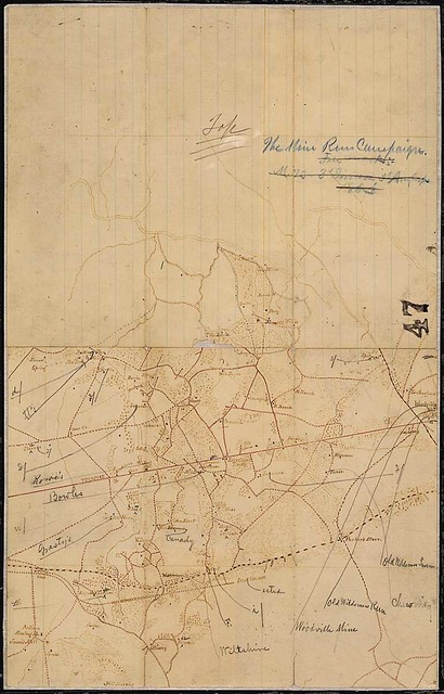 [Map of the vicinity of Mine Run.]