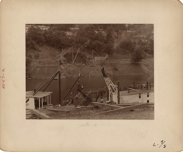 View of Abutment at Lock Number Seven on the Kentucky River