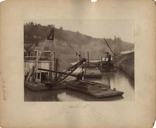 Dredging for Foundation of Walls for Lock Number Seven on the Kentucky River
