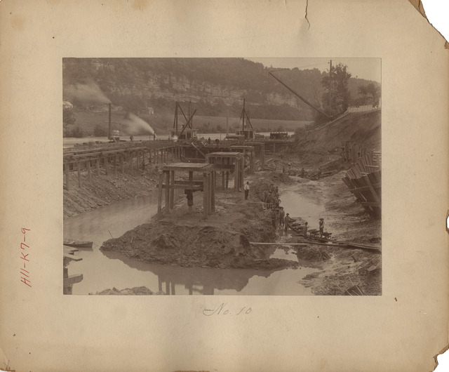 Excavating in Cofferdam at Lock Number Seven on the Kentucky River