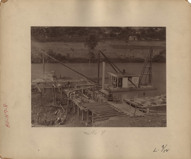 Lower End of Cofferdam at Lock Number Seven on the Kentucky River