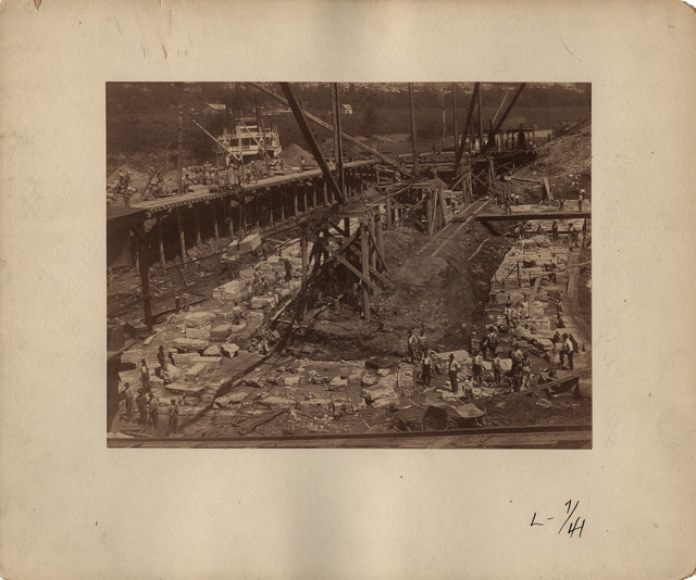 Foundation of Lock Walls at Lock Number Seven on the Kentucky River