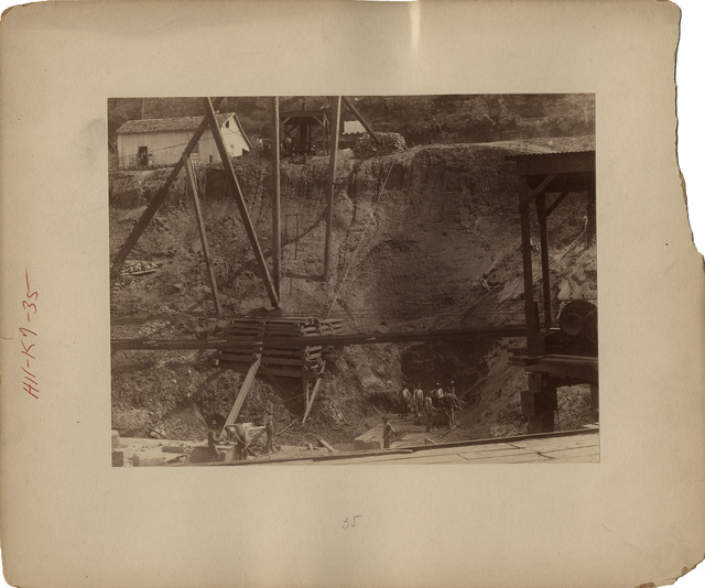Kentucky River Lock Number Seven Excavation for Upper Wing Wall
