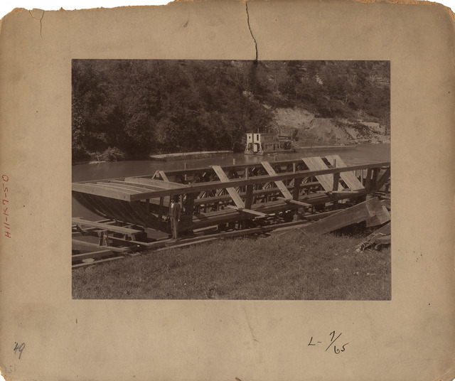 Kentucky River Lock Number Seven Constructing Dump Scows