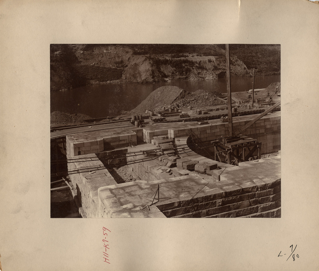Kentucky River Lock Number Seven Lock-pit Showing Upper Breast Wall