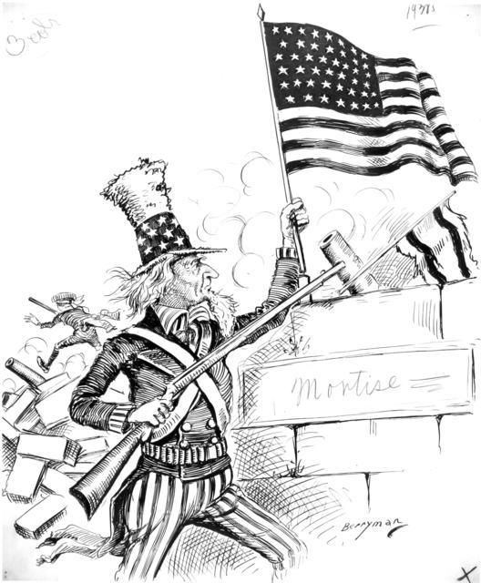 Hoisting the flag of freedom