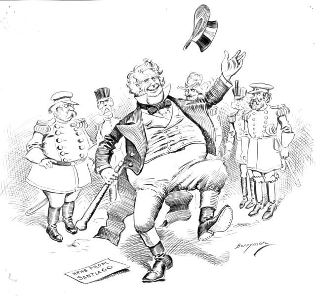 An Enthusiastic Kinsman.  John Bull – I find it difficult to restrain my joyful emotions