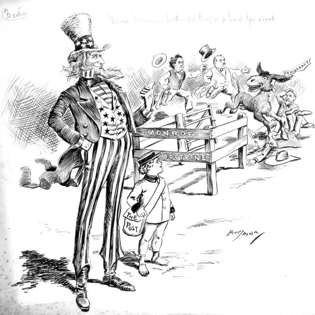 """Uncle Sam - """"Me-thinks they'll have a hard time catching him."""""""