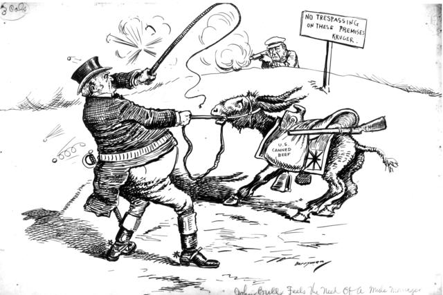 John Bull Feels the Need of a Mule Manager