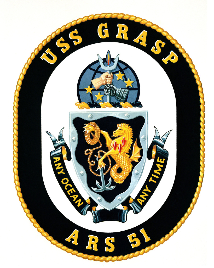 Coat of Arms for the USS Grasp (ARS-51)  OFFICIAL U S  ARMY