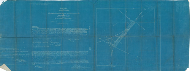 Right of Way and Station Grounds of Kansas, Oklahoma, Central and Southwestern Railway at Bartlesville in Cherokee Nation, Indian Territory