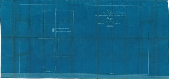 Right of Way and Supplemental Station Grounds of the Kansas, Oklahoma, Central, and Southwestern Railway at Dewey in Cherokee Nation, Indian Territory