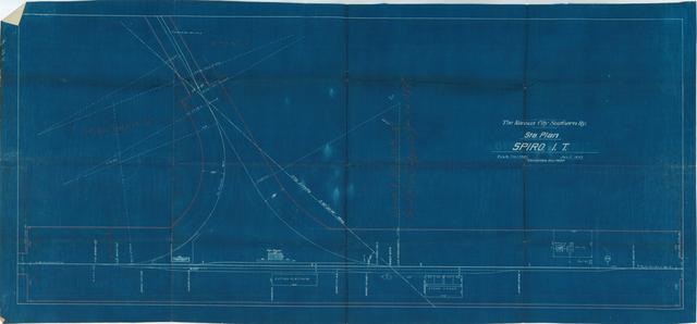 The Kansas City Southern Railway, Station Plan, Spiro, Indian Territory
