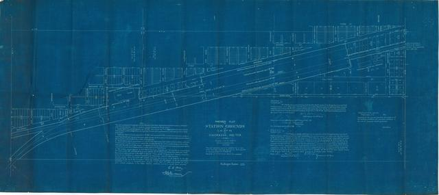Amended Plat of Station Grounds of Chicago, Rock-Island, and Pacific Railway at Chickasha, Indian Territory
