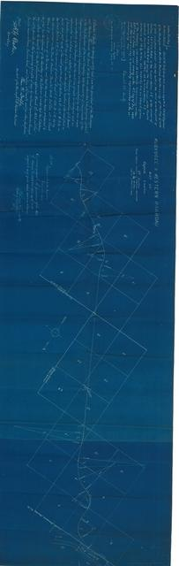Muskogee & Western Railroad Map of Definite Location 3rd Section