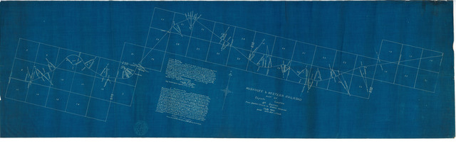 Muskogee & Western Railroad Map of Definite Location 4th Section