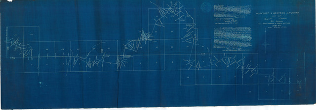Muskogee & Western Railroad Map of Definite Location 5th Section