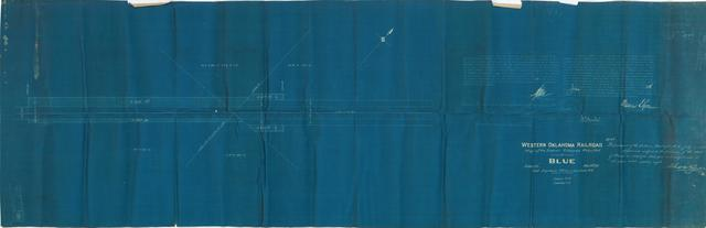 Western Oklahoma Railroad, Map of Station Grounds Required at Blue