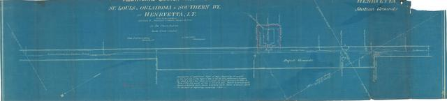 Additional Station Grounds, St. Louis, Oklahoma & Southern RY. at Henryetta, I.T.