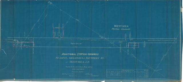 Additional Station Grounds, St. Louis, Oklahoma & Southern RY at Wetumka, I.T.
