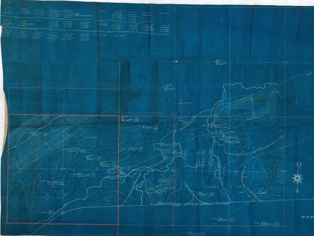 Map of Sans Bois Coal Company's Coal Leases near McCurtain, Indian Territory