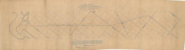 Map Show Preliminary Location of the Arkansas, Red River, & Paris Railroad