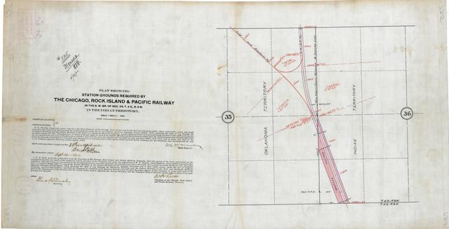 Plat Showing Station Grounds Required by Chicago, Rock Island & Pacific Railway