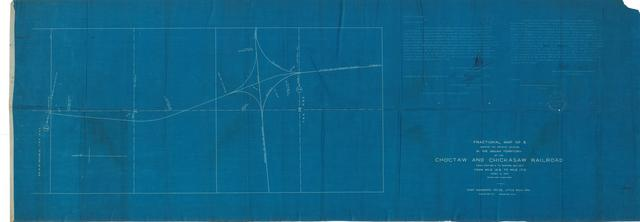 Choctaw & Chickasaw Railroad, Fractional Map No. 8