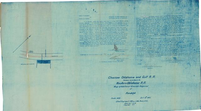 Choctaw Oklahoma & Gulf R.R., Map of Additional Grounds Required at Randolph