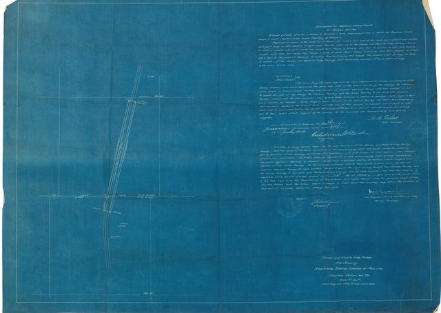Denison and Washita Valley Railway. Map Showing. Additional Station Grounds at Phillips. Choctaw Nation, Ind. Ter.
